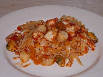 scallop with beer tomato sauce picture