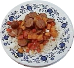 Sweet Potatoes with Sausage and Peppers picture