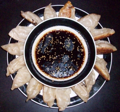 Pork and beef gyoza picture