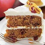 Sweet-potato layer cake with orange-cream cheese frosting picture