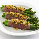 Panko crusted prosciutto-wrapped asparagus picture