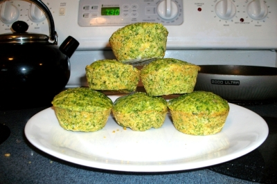 spinach corn muffins picture