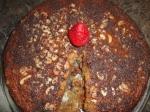 Almond Banana Amaretto cake with bitter Dark Chocolate sprinkle  picture