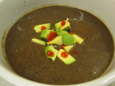 Black Bean Soup w/ Avocado picture