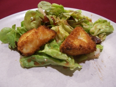 Baby Greens with Poppy Seed Dressing & Crispy Cheese Garnish picture