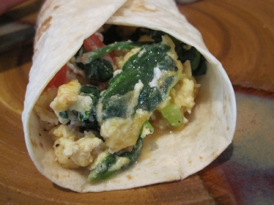 big veggie breakfast burritos picture