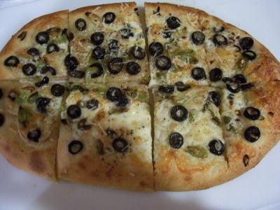 Green Onion & Olive Pizza picture