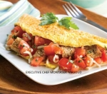 Tomato and Garlic Omelet--This unique omelet includes vegetables and w picture
