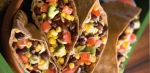 Black Bean and Corn Pitas-A protein-packed mixture of seasoned vegetab picture