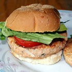 salmon rosemary burgers picture