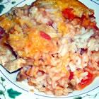 salsa chicken rice casserole picture