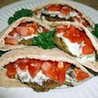 sean's falafel and cucumber sauce picture