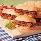 shredded pork sandwiches picture