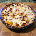 single crust peach pie picture