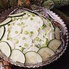 sour cream cucumber salad picture