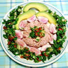 south beach chopped salad with tuna picture