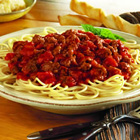 speedy spaghetti dinner picture