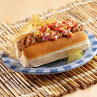 spicy hot brat sandwiches with cool creamy salsa picture