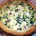 spinach mushroom quiche picture