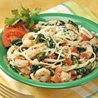 Spinach Shrimp Fettuccine picture