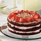 strawberry-almond chocolate torte picture