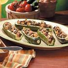 stuffed zucchini boats picture