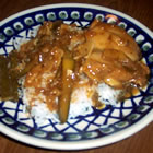 adobo chicken with ginger picture