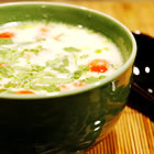 tom ka gai (coconut chicken soup) picture