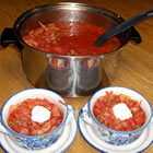 Ukrainian Red Borscht Soup picture