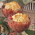 almond rhubarb cobbler picture