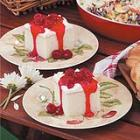 White Cake with Raspberry Sauce picture
