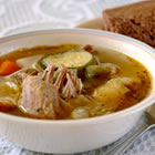 white wine chicken soup picture