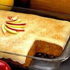 apple spice custard cake picture