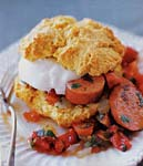 tomato and kielbasa shortcake picture