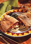 calzones with cheese, sausage and roasted red pepper picture