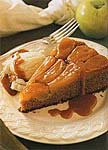 winter spice cake with caramelized apple topping picture