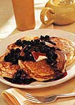 buttermilk pancakes with blueberry compote picture