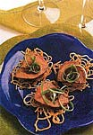 ginger-hoisin beef and scallions on crispy noodle cakes picture