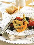 artichoke, olive, and roasted pepper antipasto picture