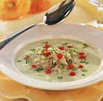 buttermilk soup with cucumber and crab picture