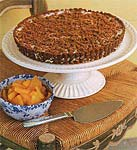 gingersnap crumble ice-cream tart with chunky pineapple sauce picture