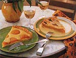 apricot tart with honey and almonds picture