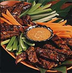 pork rib satays with peanut sauce picture