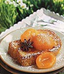 pain perdu with poached apricots picture