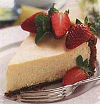 strawberry cheesecake with gingersnap crust picture