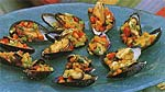 curry-marinated mussels on the half shell picture