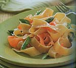 pappardelle in lemon cream sauce with asparagus and smoked salmon picture