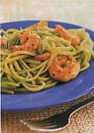 linguine with scallion sauce and sauteed shrimp picture