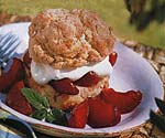 oatmeal shortcakes with spiced plums picture