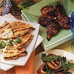 chicken and mushroom quesadillas picture